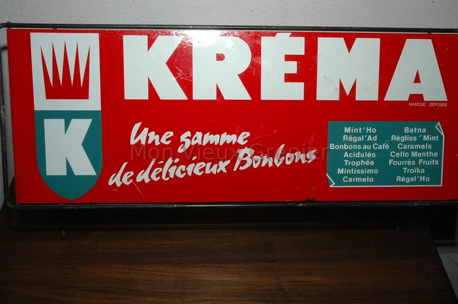 Ancien panneau publicitaire en t le lithographi e bonbons krema mon vieux g - Frais notaire achat ancien ...