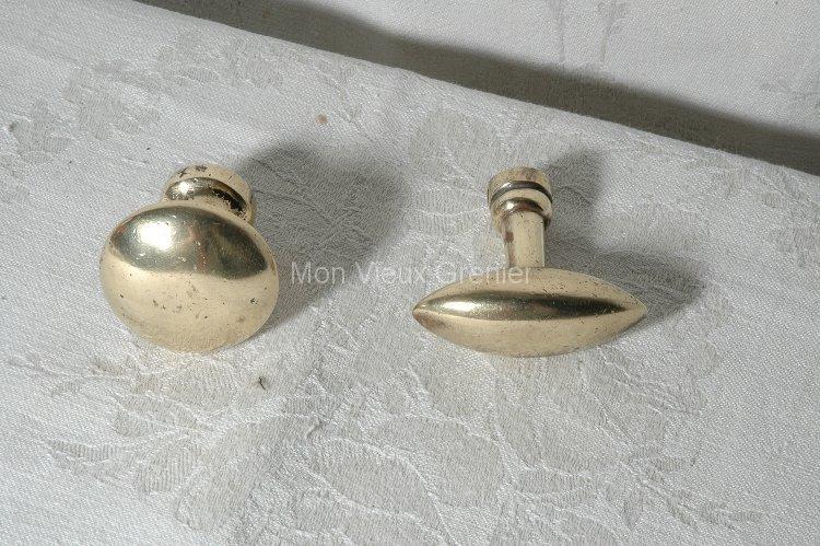 Anciens boutons de porte en laiton mon vieux grenier for Bouton de meuble de cuisine
