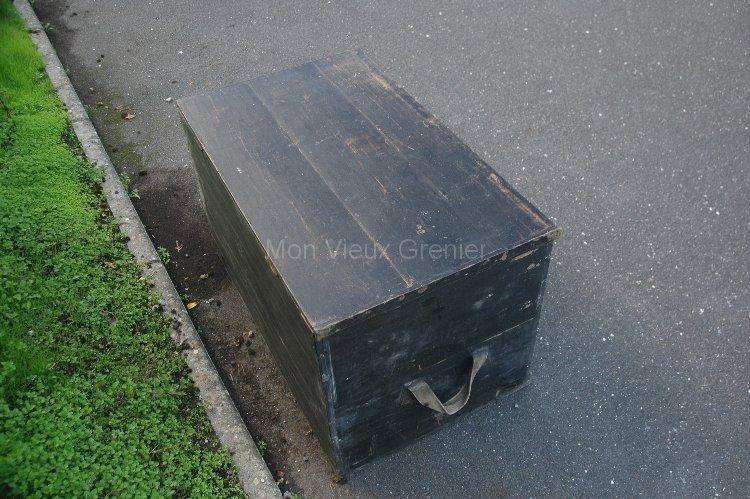 Coffre En Bois Ancien : Ancien coffre en bois bagage et rangement Mon Vieux Grenier