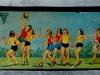 Ancien plumier motif équipe basket féminine