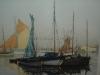 tableau peinture port pêche
