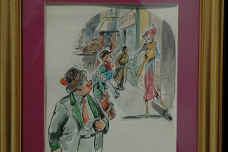 dessin homoristique années 50