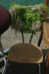 chaise fourrure tendance vintage