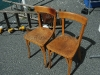 chaise de bistrot en bois Baumann