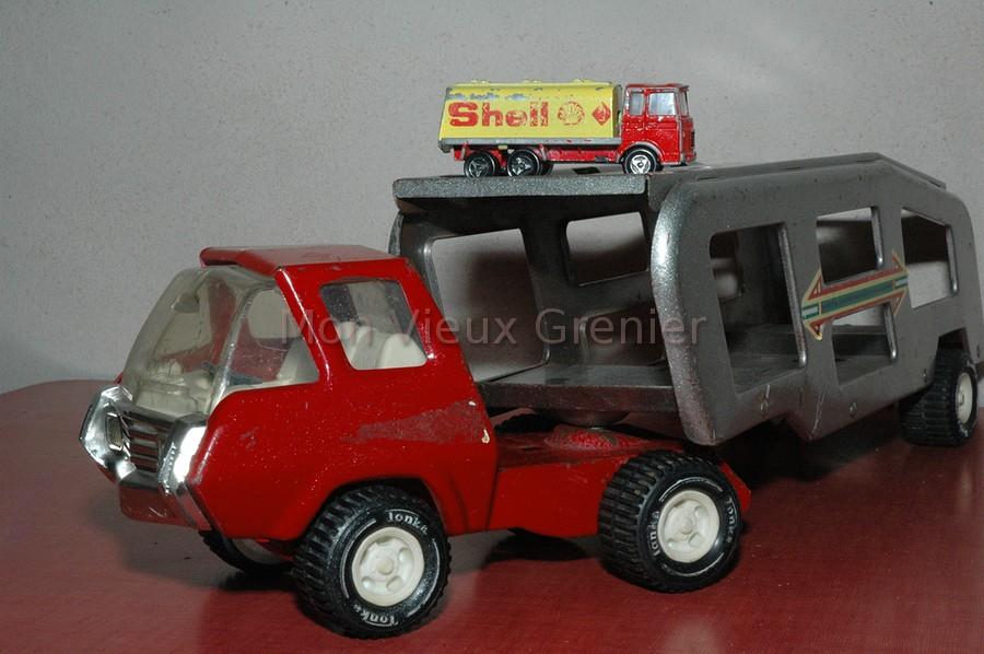 Ancien camion remorque jouet pour enfants mon vieux grenier - Frais notaire achat ancien ...
