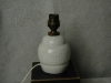 Pied de lampe en faience craquelée