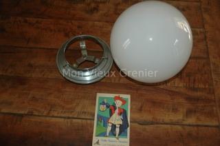 Lampe Opaline blanche plafonnier