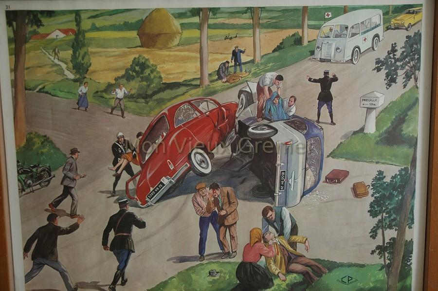 Anciennes affiches d 39 cole sc nes de vie quotidienne for Brocante dans 60