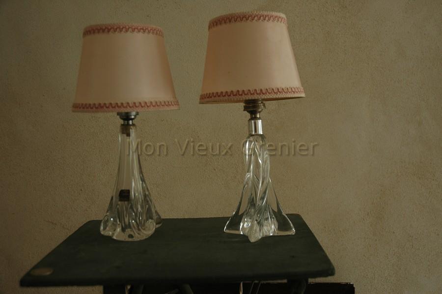 anciennes lampes en cristal de s vres. Black Bedroom Furniture Sets. Home Design Ideas