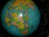 Globe terrestre métallique 1960