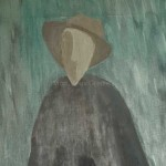 Huile sur toile homme sans visage