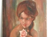 Dessin en original Femme à la rose